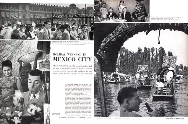 Article Preview: HOLIDAY WEEKEND IN MEXICO CITY, September 1960 | Maclean's