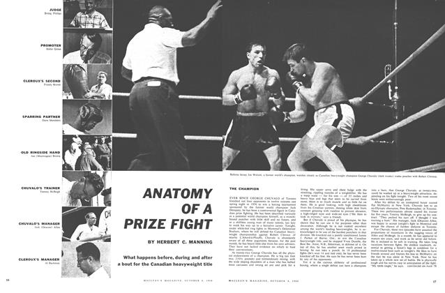 Article Preview: ANATOMY OF A PRIZE FIGHT, October 1960 | Maclean's
