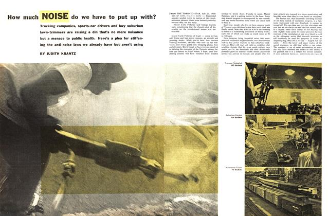 Article Preview: How much NOISE do we have to put up with?, October 1960 | Maclean's