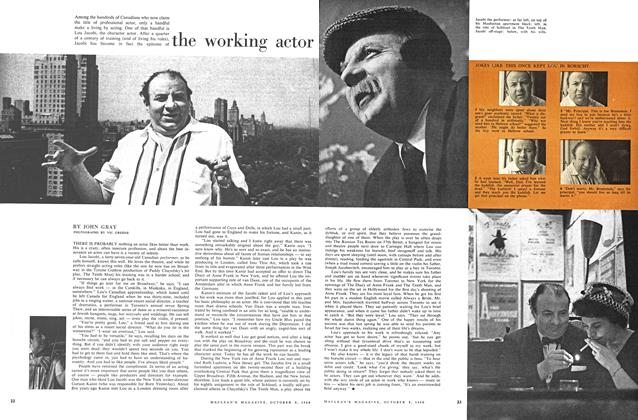 Article Preview: the working actor, October 1960   Maclean's