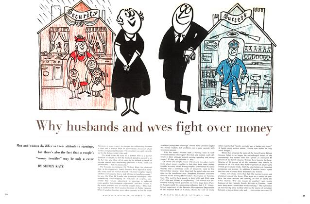 Article Preview: Why husbands and wives fight over money, October 1960 | Maclean's