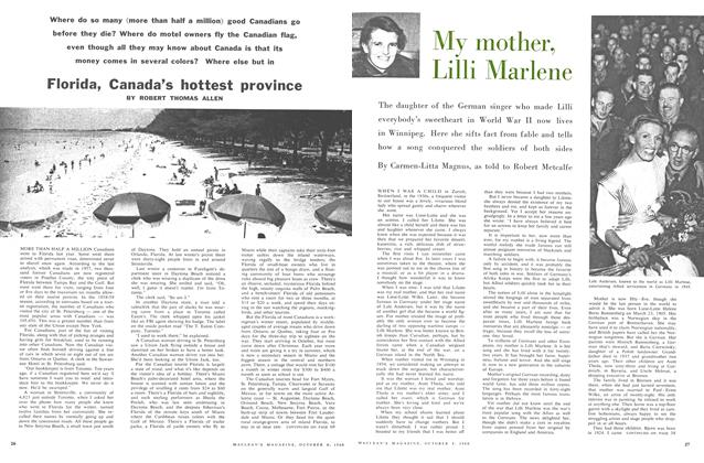 Article Preview: My mother, Lilli Marlene, October 1960 | Maclean's