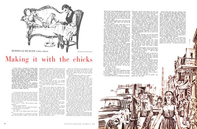 Article Preview: Making it with the chicks, October 1960 | Maclean's