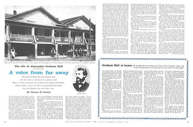 Article Preview: The life of Alexander Graham Bell Last of four parts, October 1960 | Maclean's