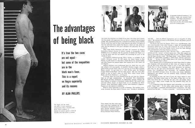 Article Preview: The advantages of being black, October 1960 | Maclean's
