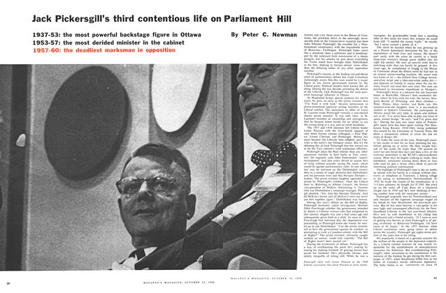 Article Preview: Jack Pickersgill's third contentious life on Parliament Hill, October 1960 | Maclean's