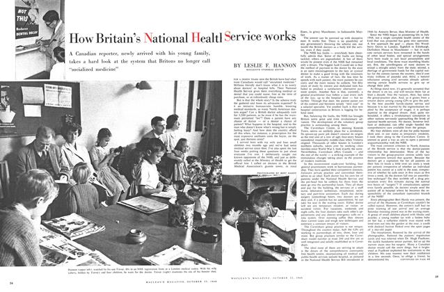 Article Preview: How Britain's National Health Service works, October 1960 | Maclean's