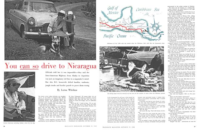 Article Preview: You can so drive to Nicaragua, October 1960 | Maclean's
