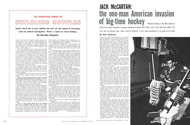 Article Preview: The brightening outlook for CHILDLESS COUPLES, October 1960 | Maclean's