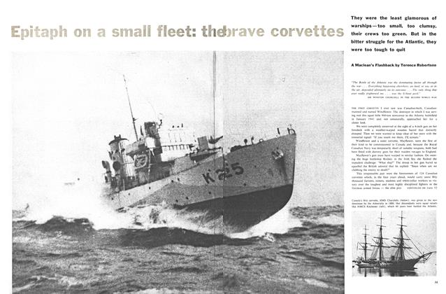 Article Preview: Epitaph on a small fleet: the brave corvettes, October 1960 | Maclean's