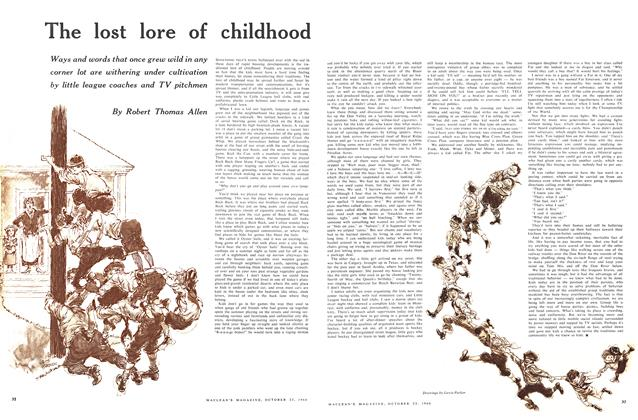 Article Preview: The lost lore of childhood, October 1960 | Maclean's