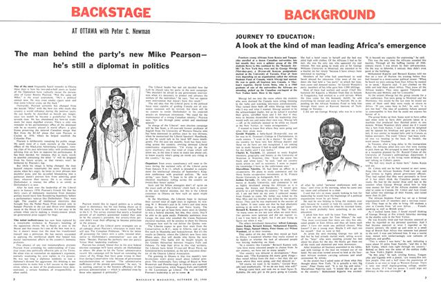 Article Preview: The man behind the party's new Mike Pearson— he's still a diplomat in politics, October 1960 | Maclean's