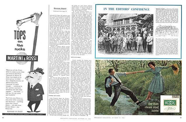 Article Preview: IN THE EDITORS' CONFIDENCE, October 1960 | Maclean's