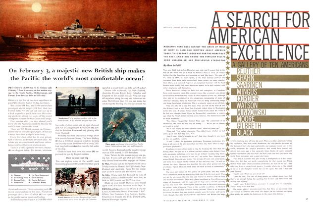 Article Preview: A SEARCH FOR AMERICAN EXCELLENCE, November 1960 | Maclean's