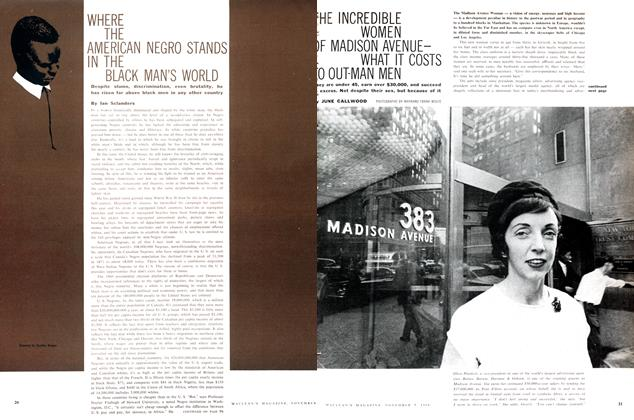 Article Preview: WHERE THE AMERICAN NEGRO STANDS IN THE BLACK MAN'S WORLD, November 1960 | Maclean's