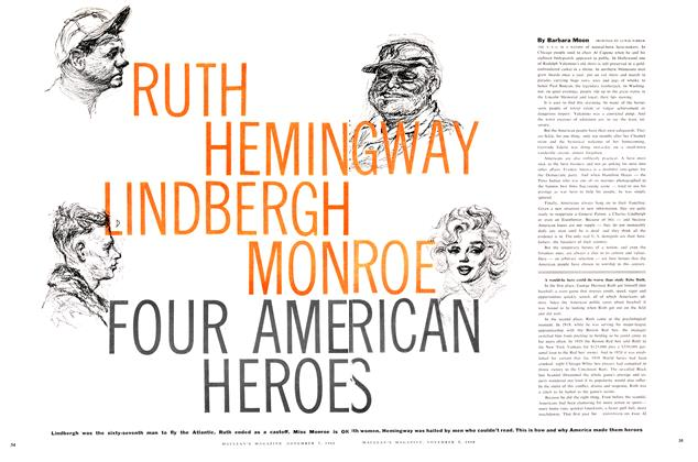 Article Preview: RUTH HEMINGWAY LINDBERGH MONROE FOUR AMERICAN HEROES, November 1960 | Maclean's