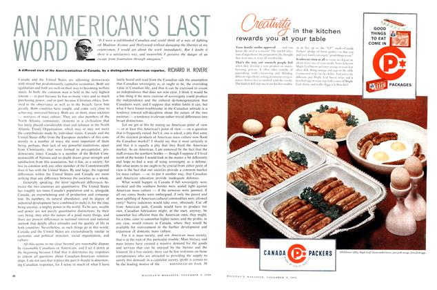 Article Preview: AN AMERICAN'S LAST WORD, November 1960 | Maclean's
