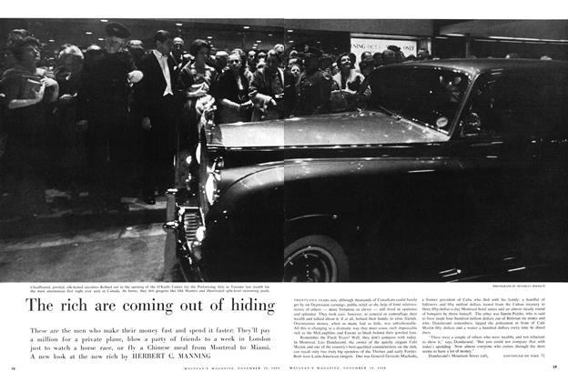 Article Preview: The rich are coming out of hiding, November 1960 | Maclean's