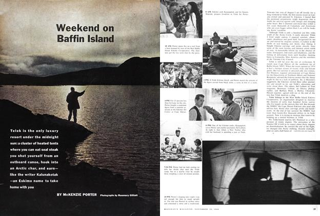 Article Preview: Weekend on Baffin Island, November 1960 | Maclean's