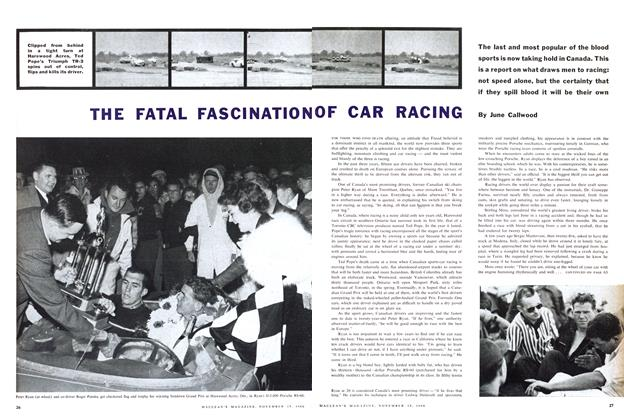 Article Preview: THE FATAL FASCINATION OF CAR RACING, November 1960 | Maclean's