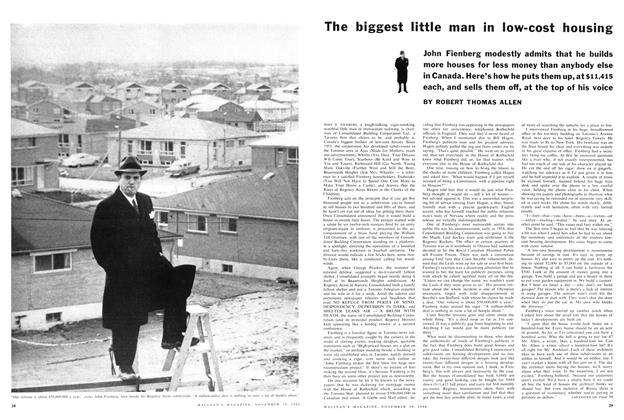 Article Preview: The biggest little man in low-cost housing, November 1960 | Maclean's