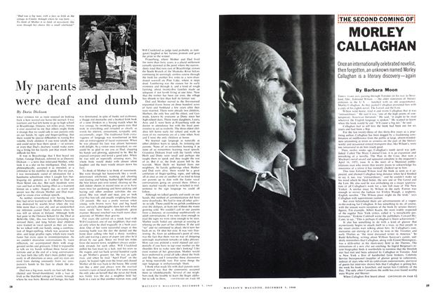 Article Preview: My parents were deaf and dumb, December 1960 | Maclean's