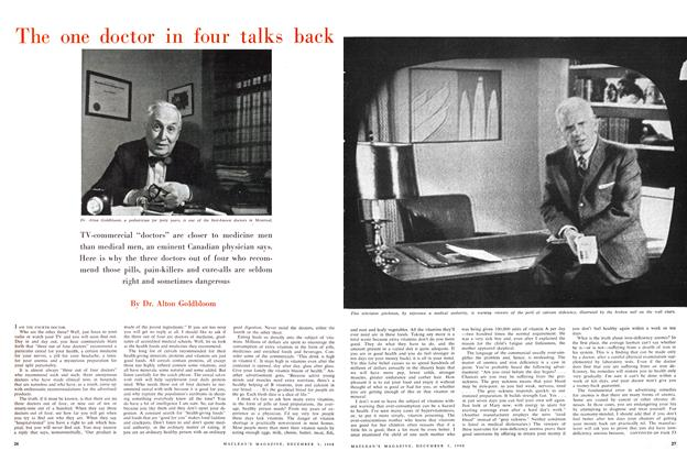 Article Preview: The one doctor in four talks back, December 1960 | Maclean's