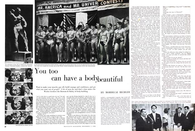 Article Preview: You too can have a body beautiful, December 1960 | Maclean's