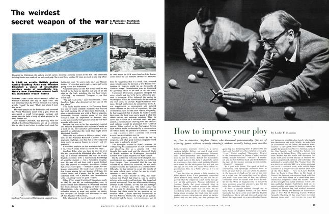 Article Preview: The weirdest secret weapon of the war, December 1960 | Maclean's