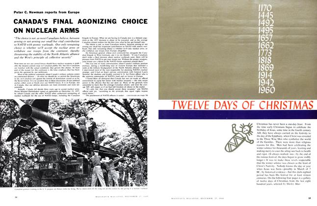 Article Preview: TWELVE DAYS OF CHRISTMAS, December 1960 | Maclean's