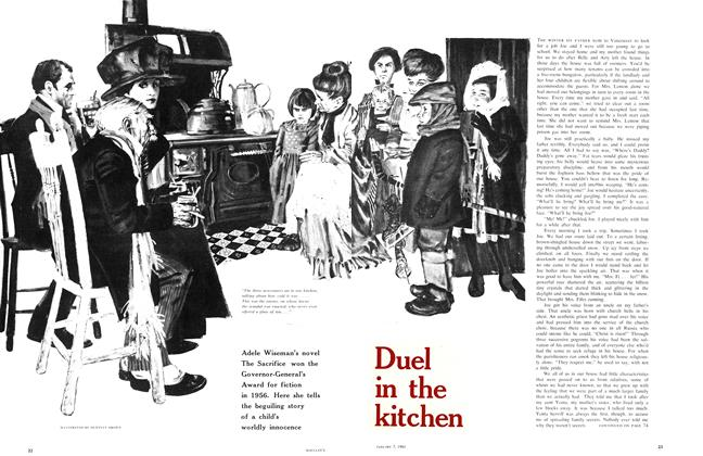 Article Preview: Duel in the kitchen, January 1961 | Maclean's