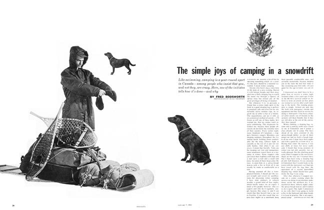 Article Preview: The simple joys of camping in a snowdrift, January 1961 | Maclean's