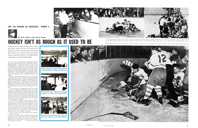Article Preview: HOCKEY ISN'T AS ROUGH AS IT USED TO BE, January 1961 | Maclean's