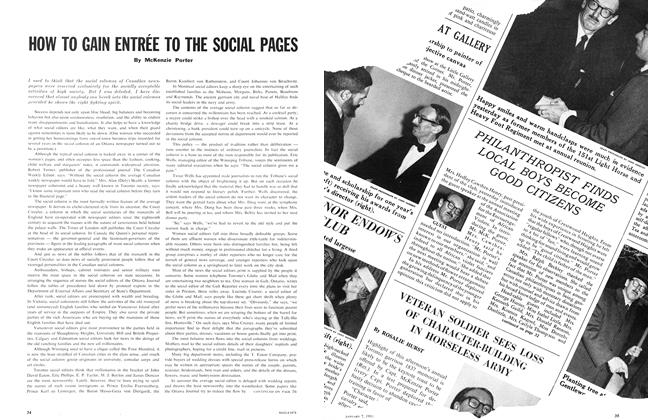 Article Preview: HOW TO GAIN ENTRÉE TO THE SOCIAL PAGES, January 1961 | Maclean's