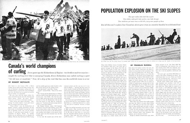 Article Preview: POPULATION EXPLOSION ON THE SKI SLOPES, January 1961 | Maclean's