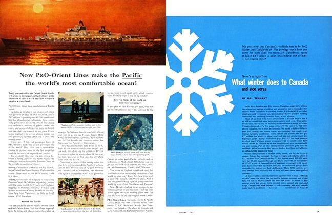 Article Preview: What winter does to Canada and vice versa, January 1961 | Maclean's