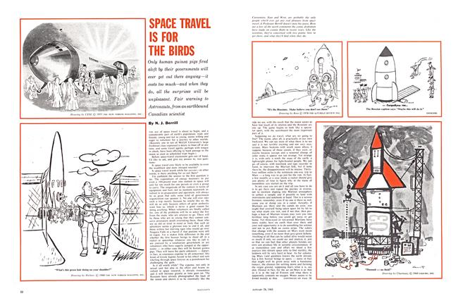 Article Preview: SPACE TRAVEL IS FOR THE BIRDS, January 1961 | Maclean's