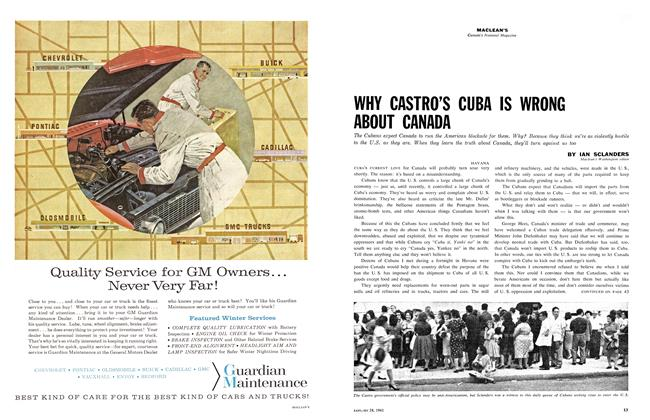 Article Preview: WHY CASTRO'S CUBA IS WRONG ABOUT CANADA, January 1961 | Maclean's