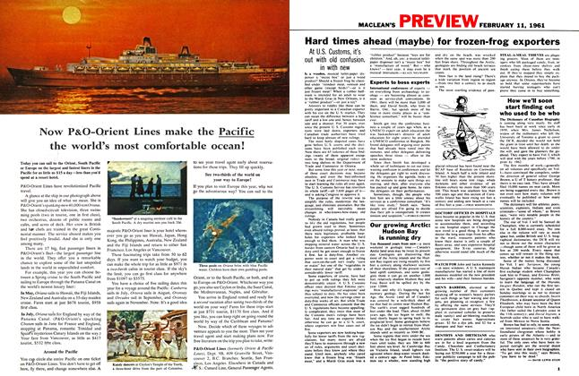 Article Preview: How we'll soon start finding out who used to be who, February 1961   Maclean's
