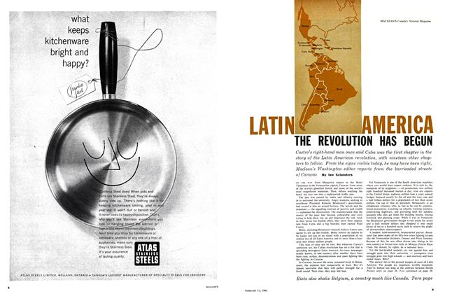Article Preview: LATIN AMERICA THE REVOLUTION HAS BEGUN, February 1961 | Maclean's