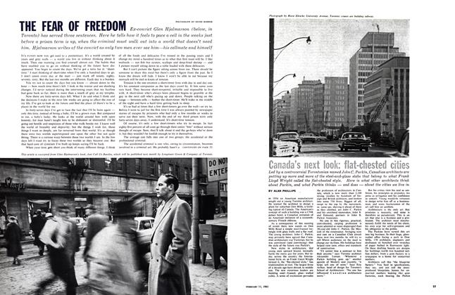 Article Preview: Canada's next look: flat-chested cities, February 1961 | Maclean's