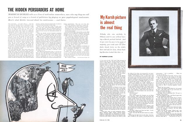 Article Preview: My Karsh picture is almost the real thing, February 1961 | Maclean's