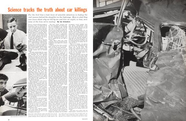 Article Preview: Science tracks the truth about car killings, February 1961 | Maclean's