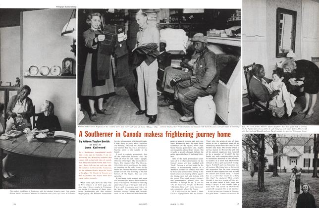 Article Preview: A Southerner in Canada makes a frightening journey home, March 1961 | Maclean's
