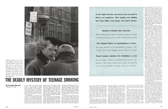Article Preview: THE DEADLY MYSTERY OF TEENAGE SMOKING, March 1961 | Maclean's