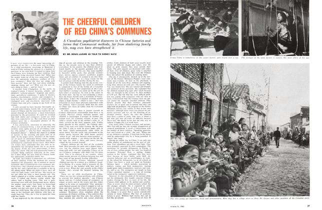 Article Preview: THE CHEERFUL CHILDREN OF RED CHINA'S COMMUNES, March 1961 | Maclean's