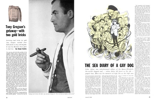 Article Preview: Tony Gregson's getaway—with two gold bricks, March 1961 | Maclean's