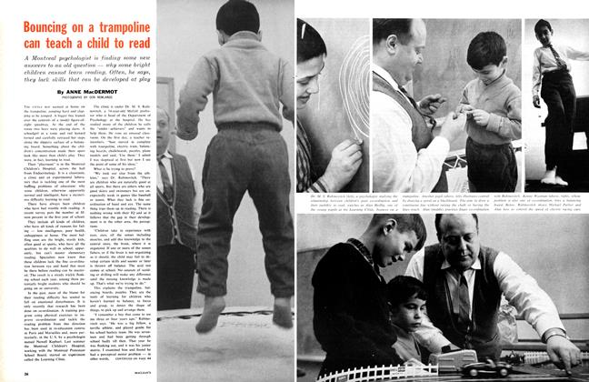 Article Preview: Bouncing on a trampoline can teach a child to read, March 1961 | Maclean's