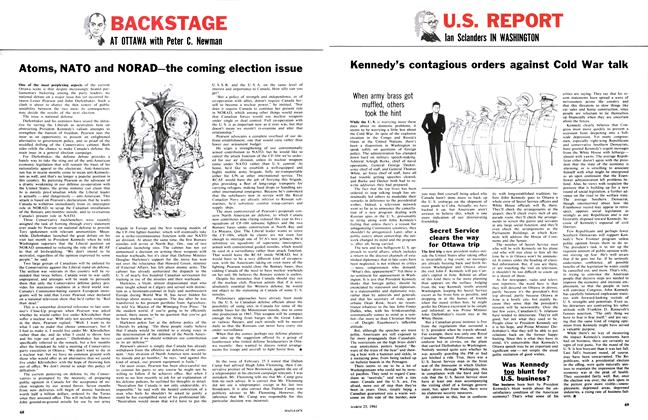 Article Preview: Atoms, NATO and NORAD—the coming election issue, March 1961 | Maclean's