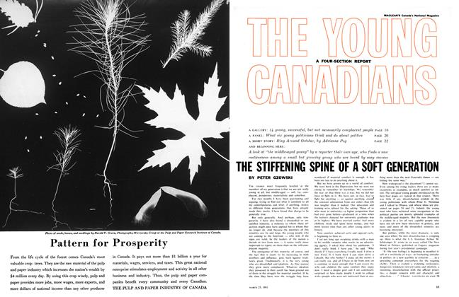 Article Preview: THE STIFFENING SPINE OF A SOFT GENERATION, March 1961 | Maclean's